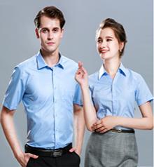 蓝色商务短袖衬衫