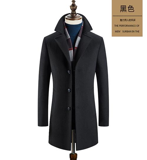 男式商务毛呢大衣