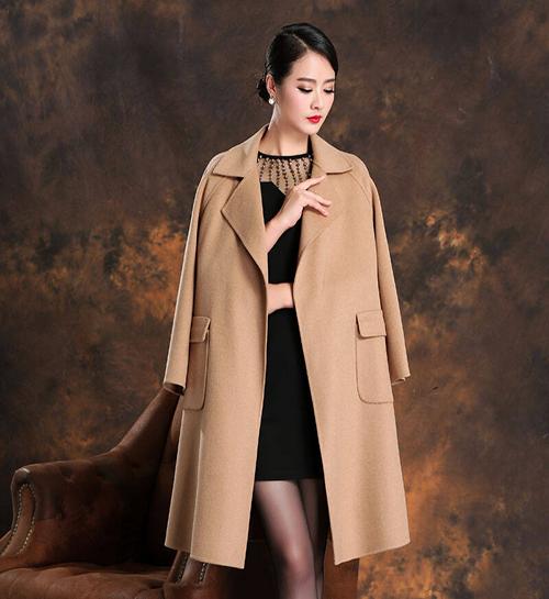 女式优雅呢子大衣