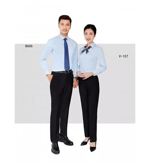 蓝色衬衫职业装